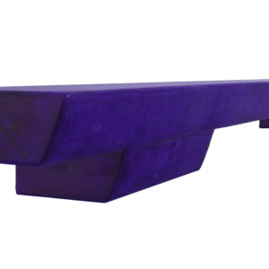 Purple figured maple wood fireplace mantel